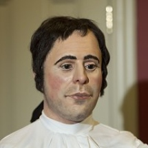 A reconstruction of the face of Robert Burns, from a skull cast made at the time of his death
