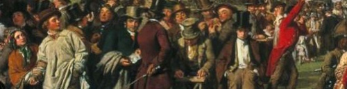Detail from 'The Derby Day' by William Powell Frith