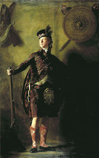 Henry Reaburn's 1812 portrait of Alexander Ranaldson MacDonnell of Glengarry, wearing a costume of almost total artificiality.